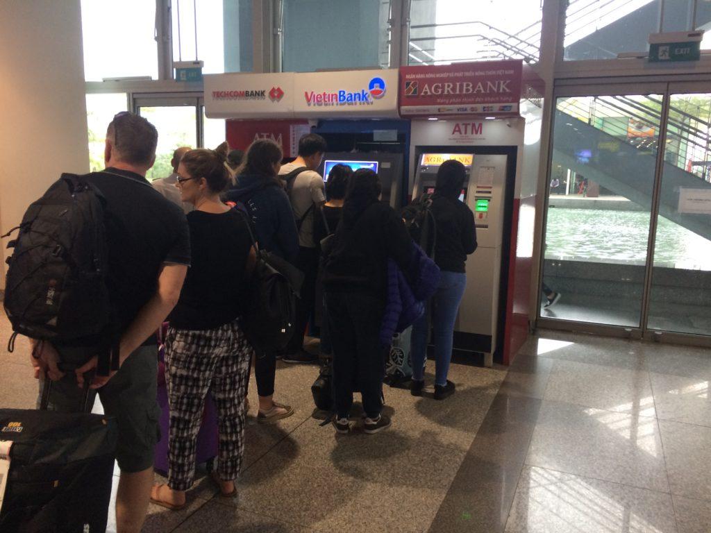 Vietnam Hanoi Noi Bai airport ATM, VISA, Master, JCB