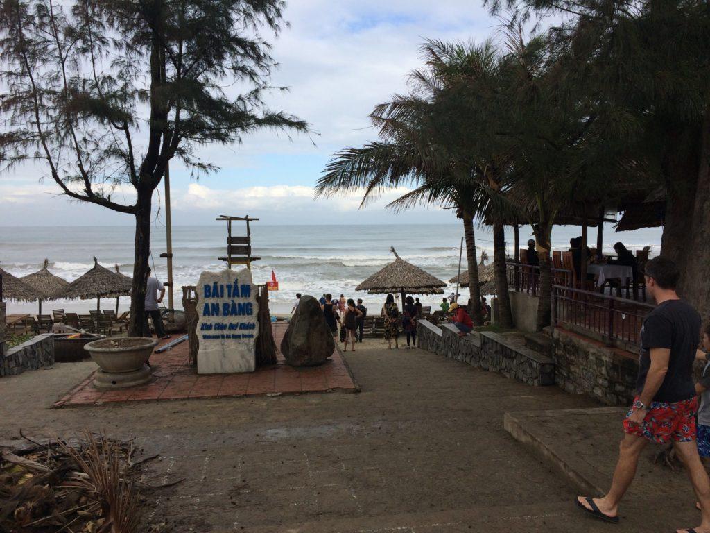 Hoian beach entrance