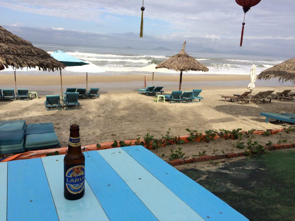 Beer at Hoian beach cafe
