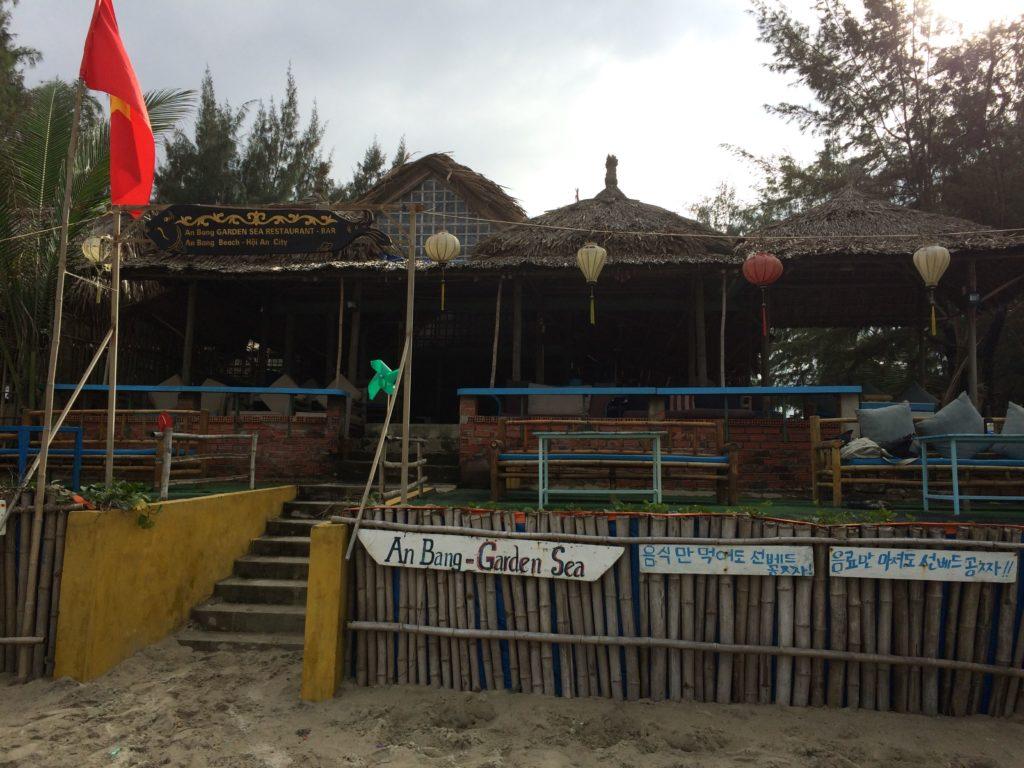 Hoian Beach's cafe and restaurant.