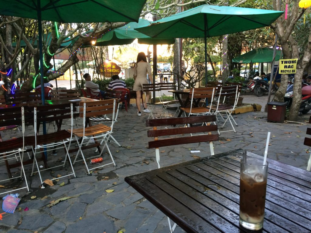 Big outside cafe in Hoian