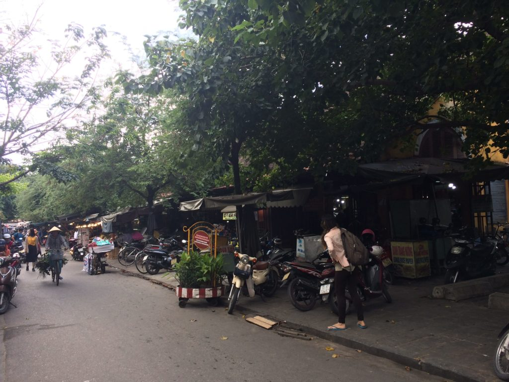 Market area in near center of Hoian