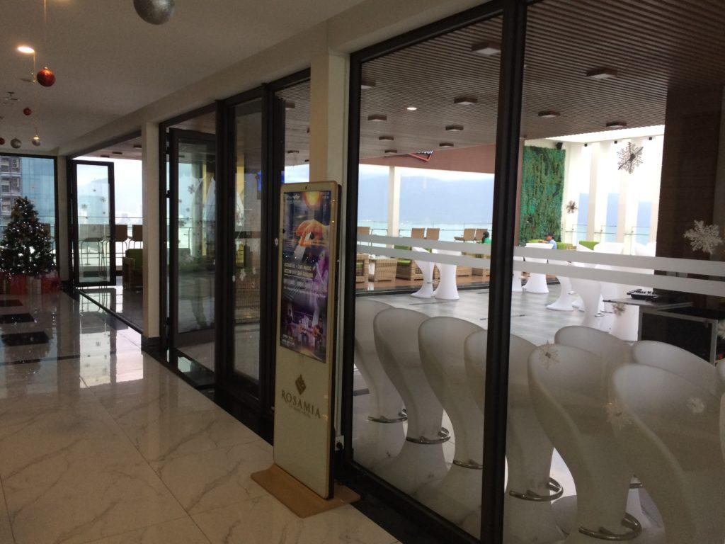 Entrance of SKY BAR at ROSAMIA HOTEL in Danang