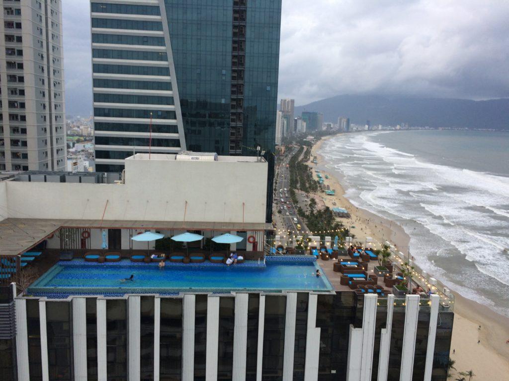 Roof pool next to SKY BAR at ROSAMIA HOTEL in Danang