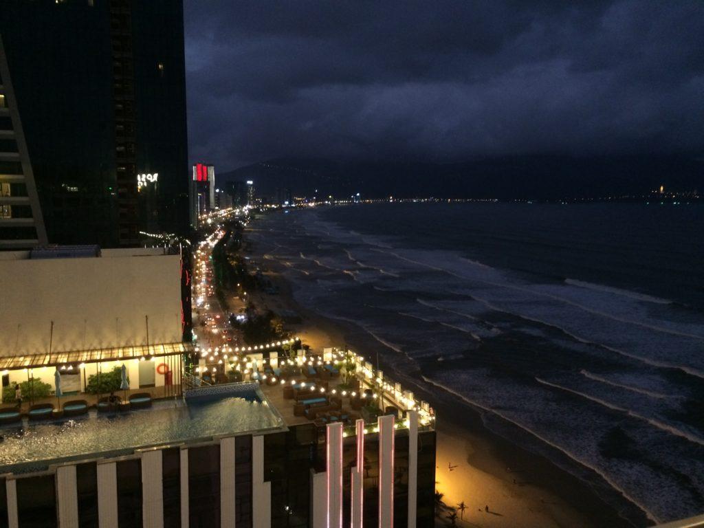 SKY BAR at ROSAMIA HOTEL in Danang, night view