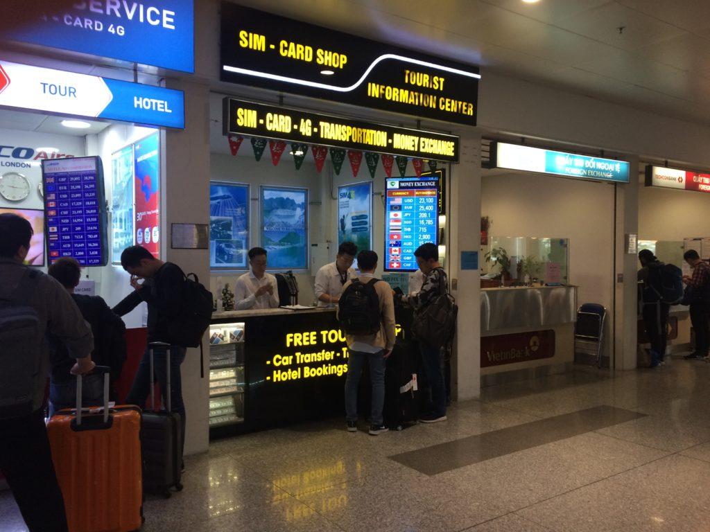 Vietnam Hanoi Noi Bai airport, SIM