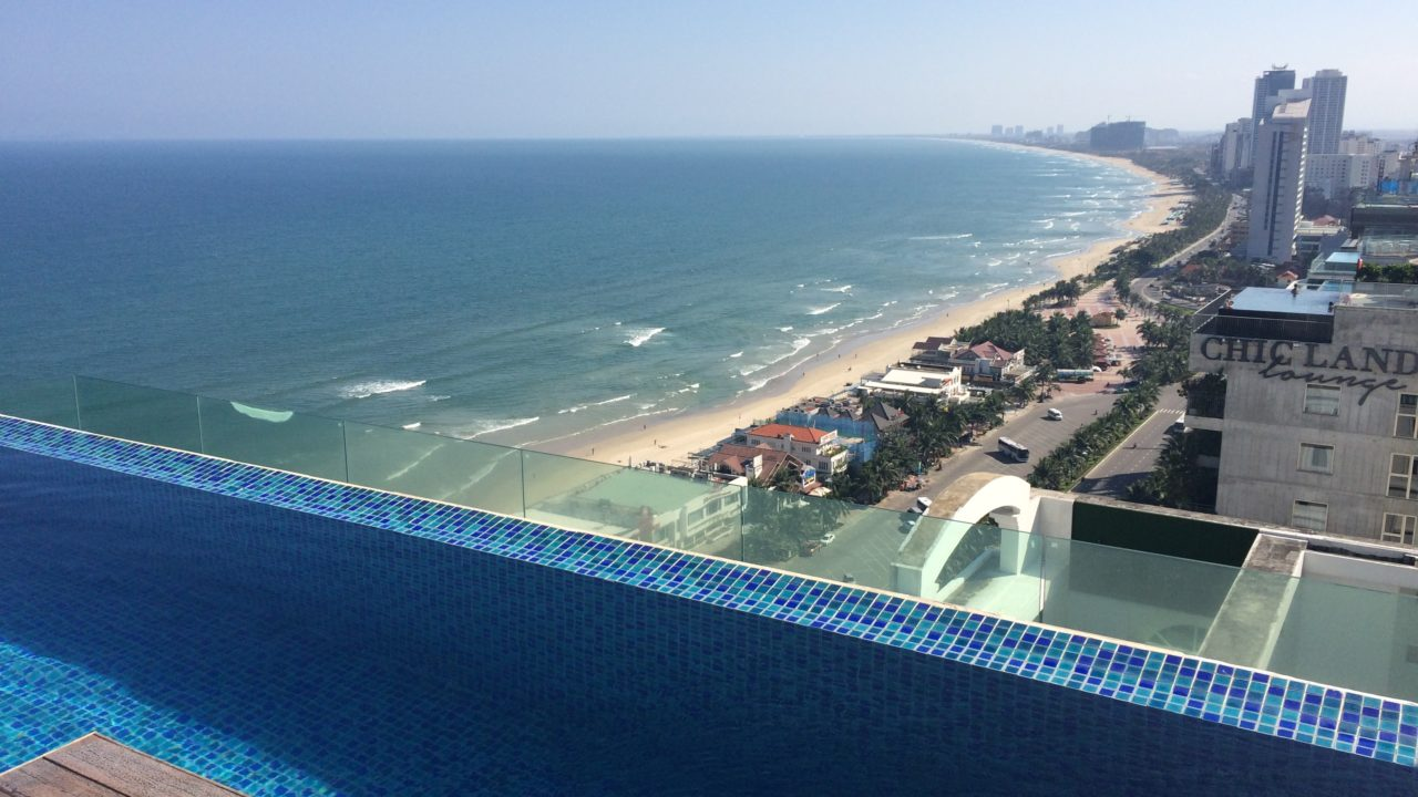 View from The Room Top Bar of A La Carte Hotel in Danang