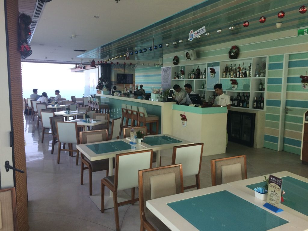The ROOF TOP BAR of A La Carte Hotel in Danang, inside