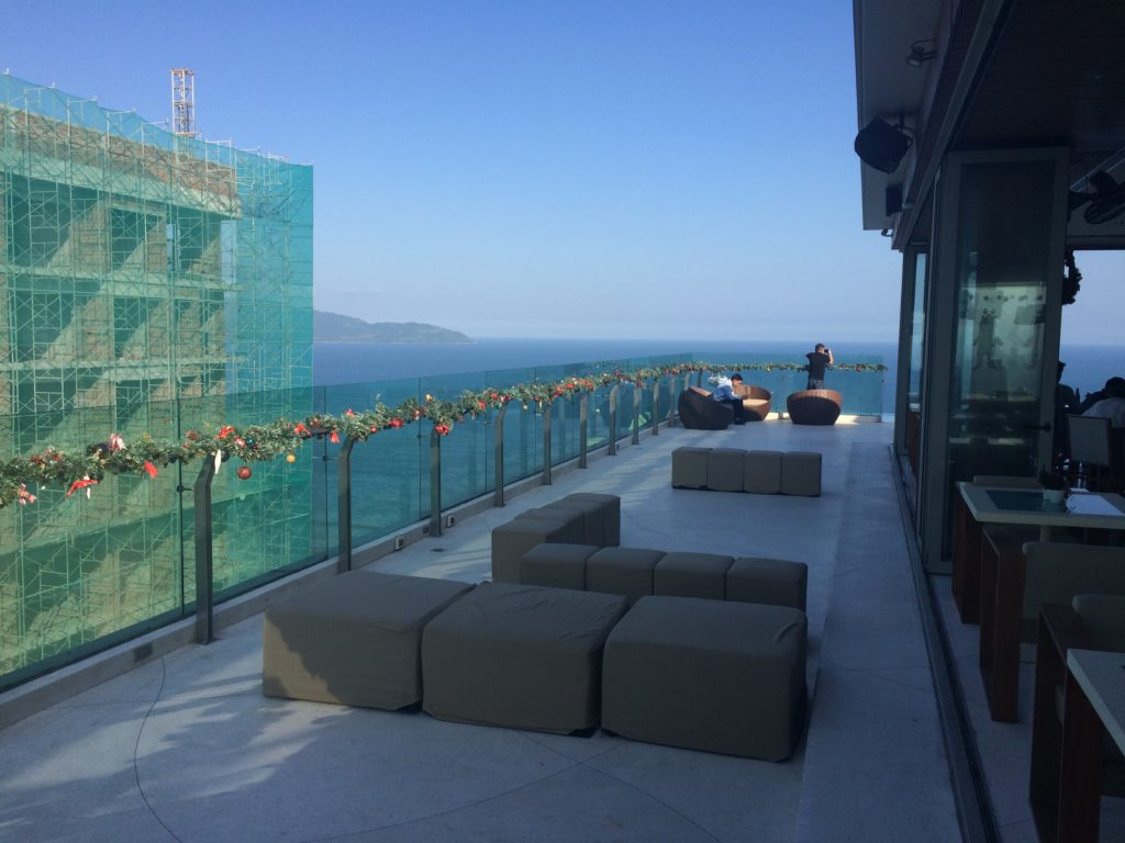 The ROOF TOP BAR of A La Carte Hotel in Danang