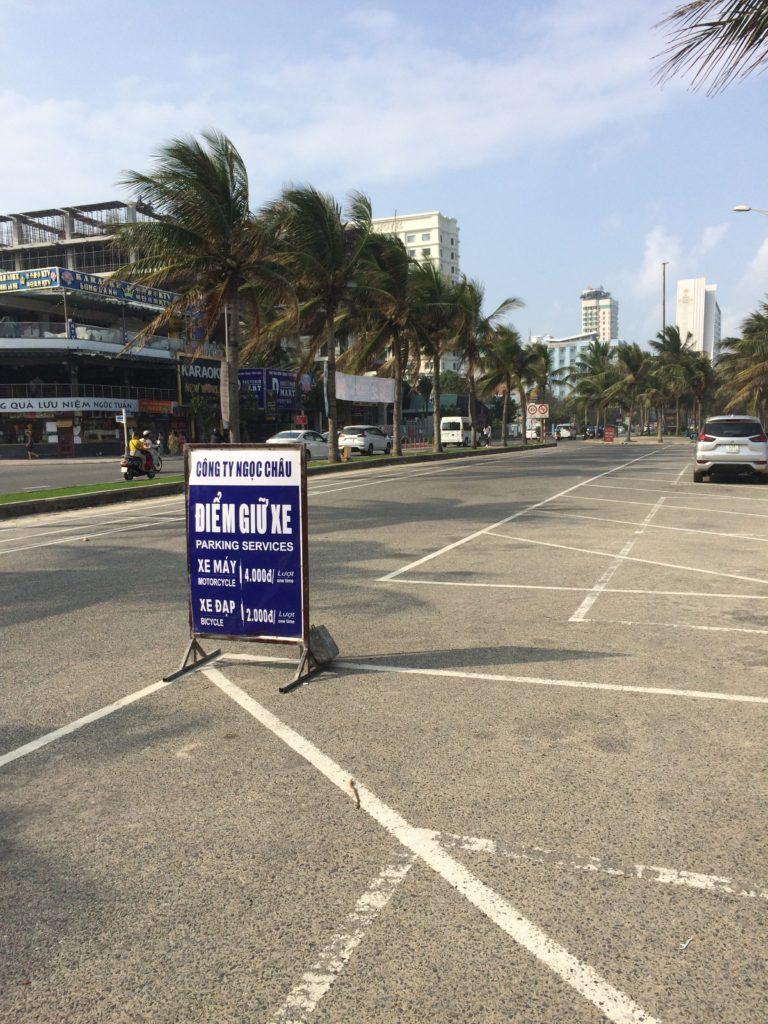 My Khe beach motorbike parking fee