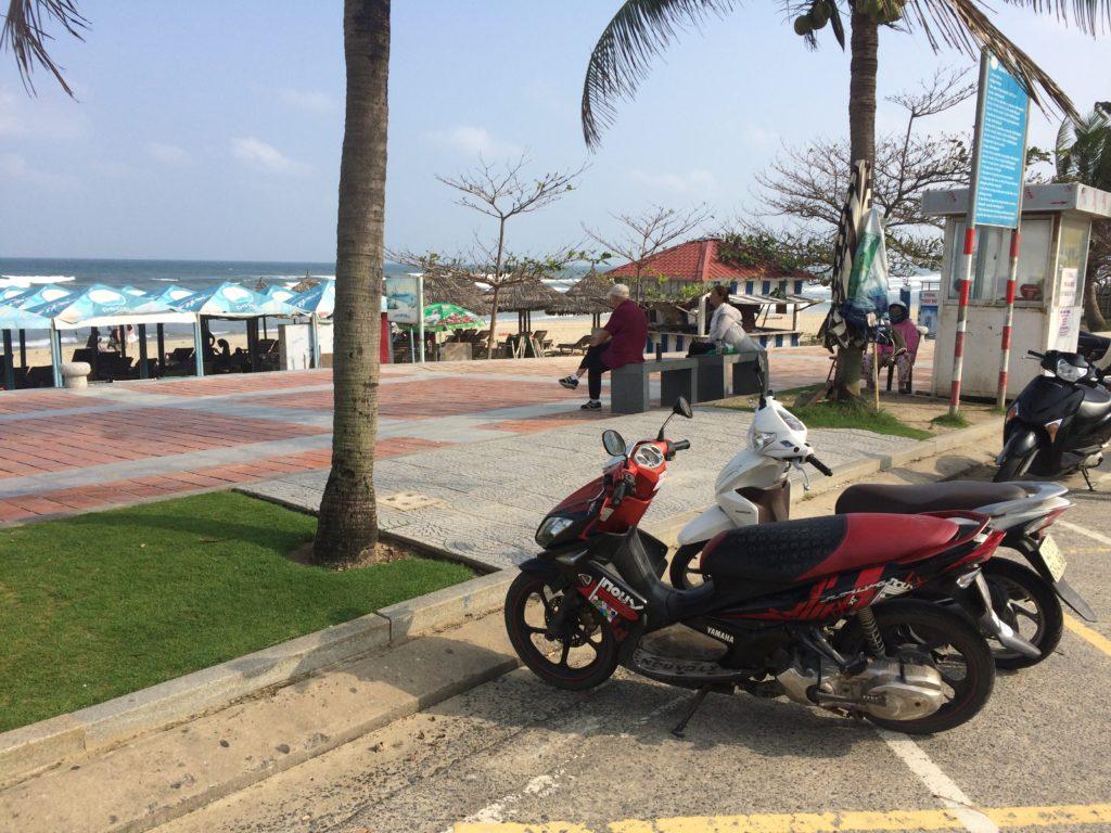 My Khe beach motorbike parking