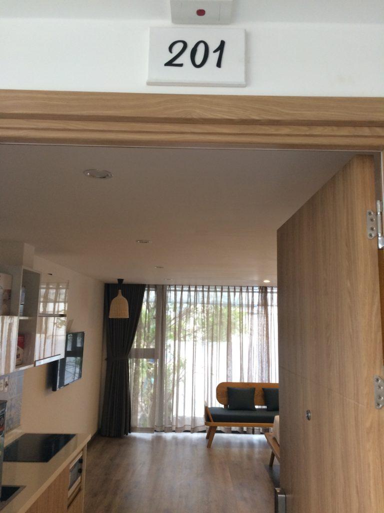 Bella Apartment in Danang, room 201, entrance