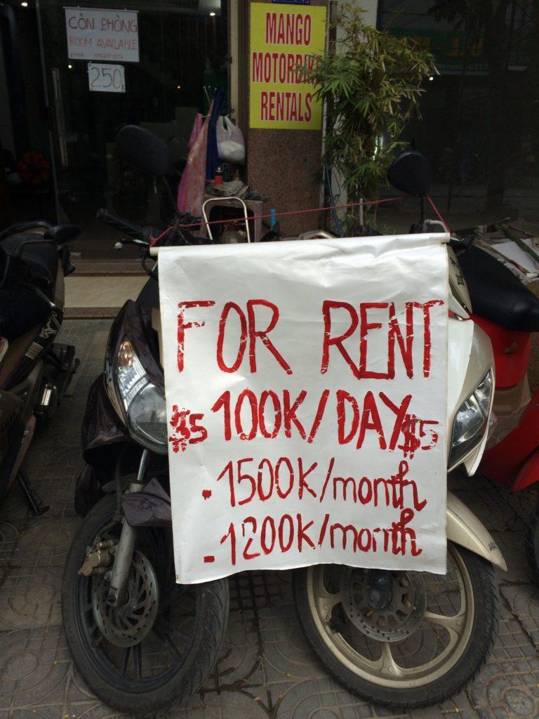 Price of MANGO MOTORBIKE RENTALS in Danang