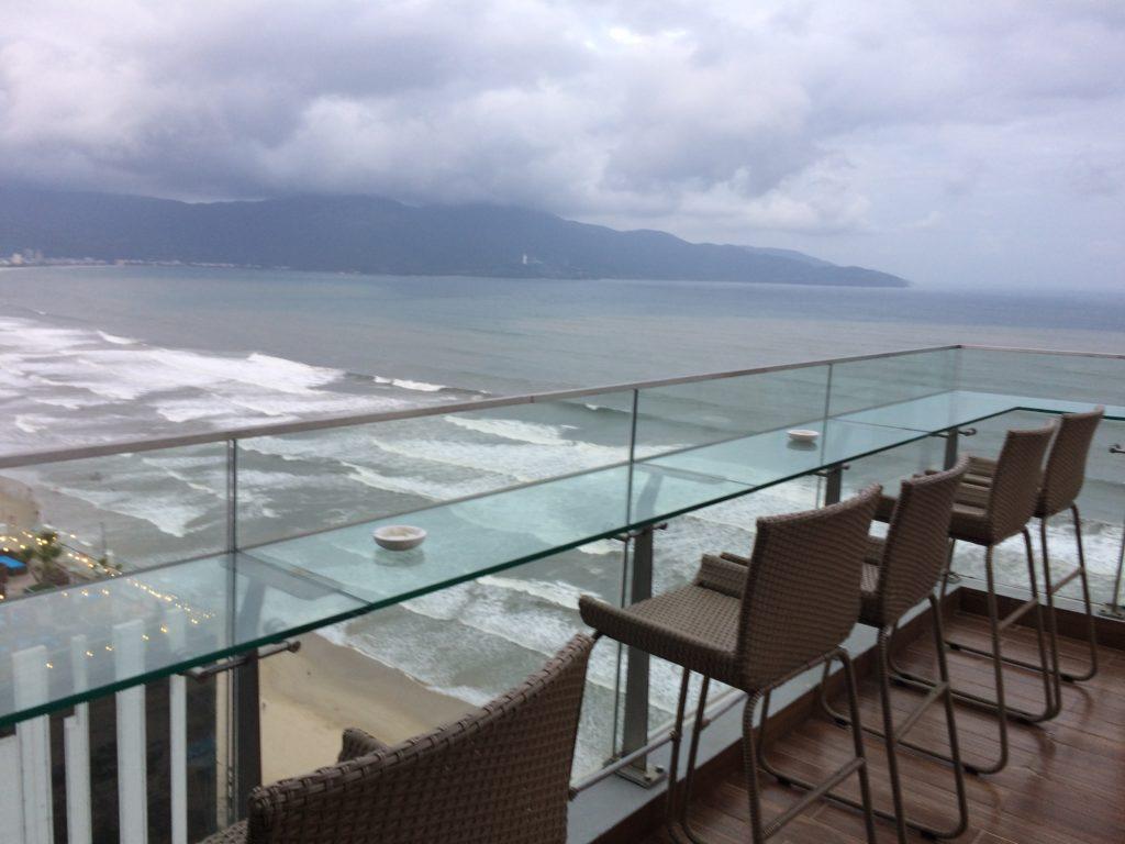 Ocean view from SKY BAR at ROSAMIA HOTEL in Danang